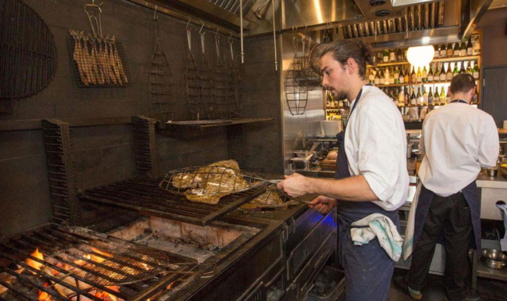 cooking at BRAT kitchen